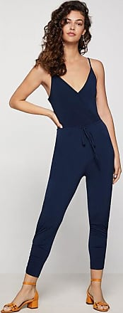 BCBGeneration Drawstring Surplice Ankle Jumpsuit