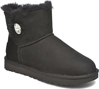 23d0200186 cheap ugg w mini bailey button bling stiefeletten boots für damen schwarz  dcac8 3afce