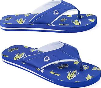 Urban Beach Hawaiian Nights flip Flops in Blue, Thongs, Toe Post flip Flops Size 6-11 (10 UK)
