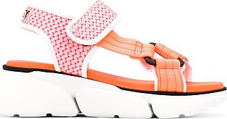 Greymer Sandália plataforma com velcro - Rosa