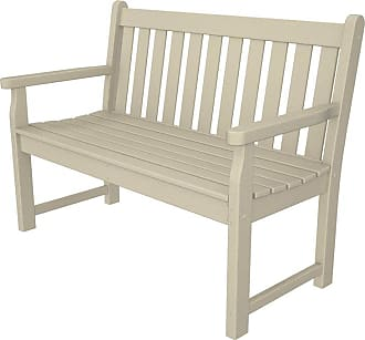 POLYWOOD Outdoor POLYWOOD Traditional Recycled Plastic 4 ft. Garden Bench Slate Gray - TGB48GY