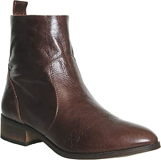 Office Ashleigh Flat Ankle Boots Brown Leather - 5 UK