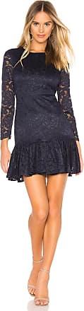 Bardot Rubi Long Sleeve Lace Dress in Navy
