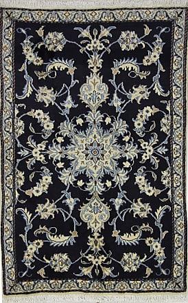 Nain Trading 137x90 Oriental Nain Rug Dark Grey/Beige (Wool/Silk, Iran/Persia, Hand-Knotted)