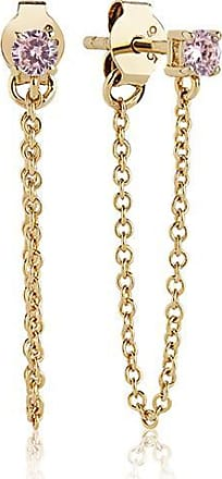 Sif Jakobs Jewellery Earrings Princess Piccolo Lungo - 18k gold plated with pink zirconia