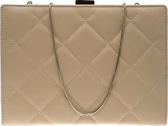 Carolina Herrera Beige Quilted Leather Frame Shoulder Bag 4a379f9214fda