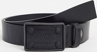 Versace Jeans Couture square buckle belt-Black
