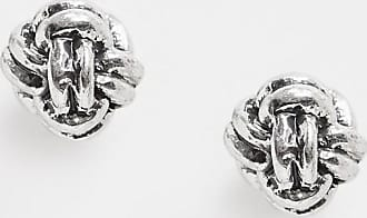 Classics 77 rope knot stud earrings in silver