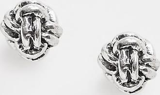 Classics 77 Orecchini a bottone a corda con nodo argento