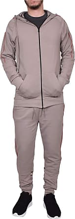 True Face Mens Tracksuit Full Zip Hoodie Elasticated Trouser Joggers Sports Track Suit Running Workout Jogging Fitness MG22 Stone 2XL