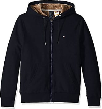 3218dde72 Tommy Hilfiger Mens Adaptive Hoodie with Magnetic Zipper and Fleece Lining, Sky  Captain, Large