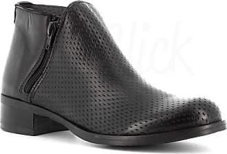 Generico Made in Italy Leather Boot Two Zips - Black Black Size: 6 UK