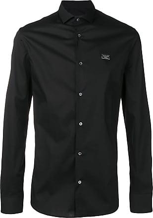Philipp Plein logo plaque shirt - Black