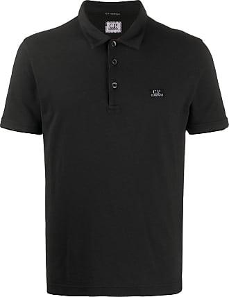 C.P. Company Camisa polo com logo bordado - Preto