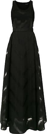 À La Garçonne Vestido longo organza - Preto
