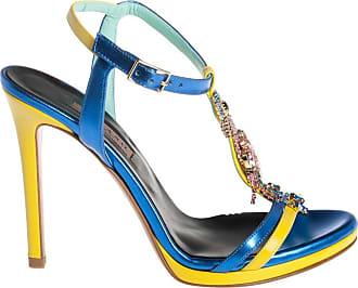 Albano sandalo con accessorio strass, 35 / blu