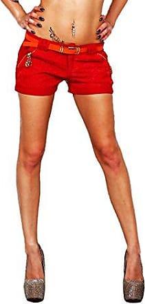 Fashion4Young Damen Latzhosen Hotpants Short Kurze mit Hosentr/ägern Hot Pants 5 Gr/ö/ßen Schwarz