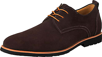 iLoveSIA Mens Oxford Leather Suede Shoes UK Size 10.5 Brown (US 11.5)