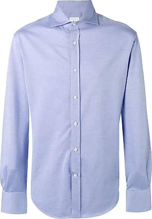 Brunello Cucinelli Camisa clássica - Azul