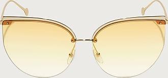 Salvatore Ferragamo Donna occhiali da sole Shiny Gold/orange Lens