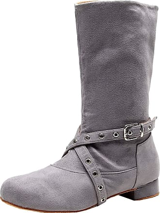 Find Nice Womens Mid Calf Dance Boots Latin Taogo Cha-Cha Party Grey 4.5 UK