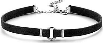 Silberdream pulsera de cuero negro unisex pulsera de cuero lac786s