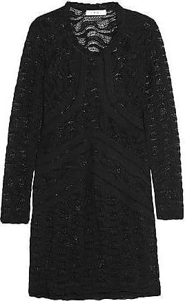 Iro Iro Woman Joos Pointelle-knit Cotton-blend Mini Dress Black Size 40