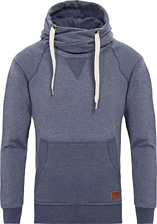 Yazubi Mens Hoody Hooded Sweatshirt Leo Soft Hoodie Sports Work Jumper Shirt Tops Royal Navy Cobalt Midnight, Grisaille Blue (183912), XS