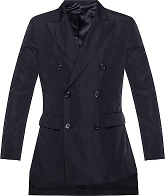 Undercover Double-breasted Coat Mens Black