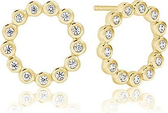 Sif Jakobs Jewellery Earrings Sardinien Circolo Piccolo - 18k gold plated with white zircona