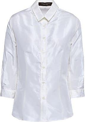 3d7b4d6e1e75f4 Carolina Herrera Carolina Herrera Woman Silk-taffeta Shirt Off-white Size 8