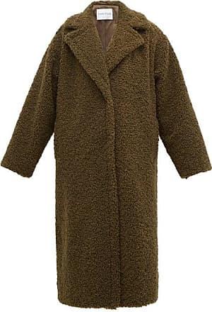 Stand Studio Lisbeth Single-breasted Faux-shearling Teddy Coat - Womens - Khaki