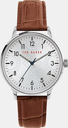 Ted Baker Leather Croc Strap Watch in Tan COSCROC, Mens Accessories