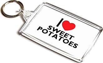 ILoveGifts KEYRING - I Love Sweet Potatoes - Novelty Food & Drink Gift