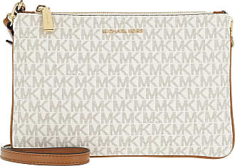 e2e0b05377c Michael Kors Large Double Pouchette Crossbody Bag Vanilla Tasche wit