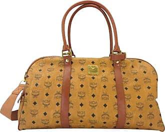 bd1a96b928d8 MCM Mcm Cognac Monogram Visetos Boston Duffle With Strap 232644 Weekend travel  Bag