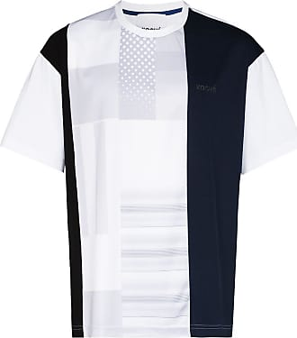 Koché Camiseta com patchwork - Azul