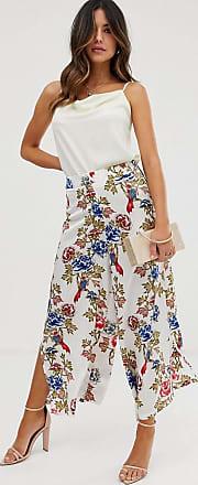 Unique21 Unique21 - Gonna a pantalone a fiori con spacco laterale-Multicolore