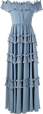 OLYMPIAH Vestido longo Concours - Azul