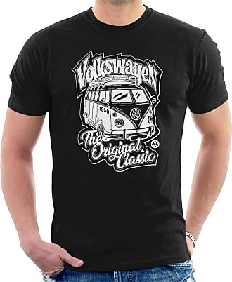 Volkswagen The Original Classic Camper Mens T-Shirt Black