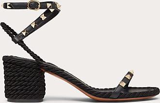 Valentino Garavani Valentino Garavani Rockstud Calfskin Sandal 65 Mm Women Black 100% Pelle Di Vitello - Bos Taurus 38