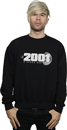Absolute Cult 2001: A Space Odyssey Mens Moon Logo Sweatshirt Black X-Large