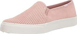 Keds Womens Double Decker Suede Sneaker, Light Pink, 7.5 M US