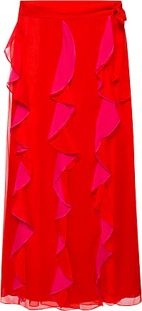 Diane Von Fürstenberg Ruffled Skirt Womens Red