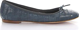 Unützer Ballerinas Klassisch Alligatorleder Schleife blau