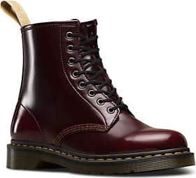 Dr. Martens Cherry Red Vegan 1460 Cambridge Brush Stiefel - 37