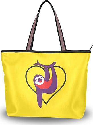 Lorona Women Cute Sloth Canvas Shoulder Hand Bag Large Capacity Tote Bag