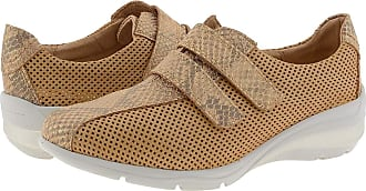 24 Horas 24 Hours 24420 Leather Trainers with Velcro Closure Size: 3 Color: Chestnut