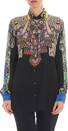 52d3fe213f294 Etro Black shirt with multicolor print