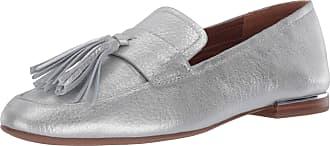 Franco Sarto Womens BRIXLEY Loafer, Silver, 5.5 UK
